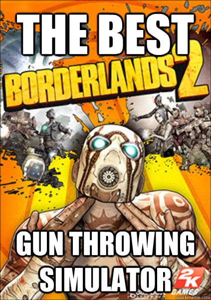 The best gun throwing simulator