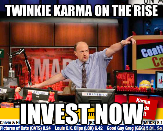 twinkie karma on the rise invest now - twinkie karma on the rise invest now  Mad Karma with Jim Cramer