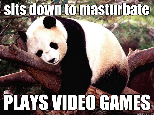 sits down to masturbate PLAYS VIDEO GAMES - sits down to masturbate PLAYS VIDEO GAMES  Procrastination Panda