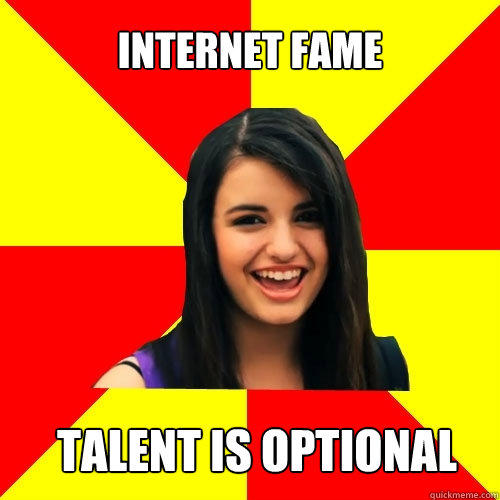 Internet Fame Talent is optional