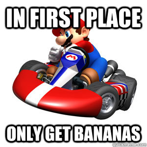 in first place only get bananas