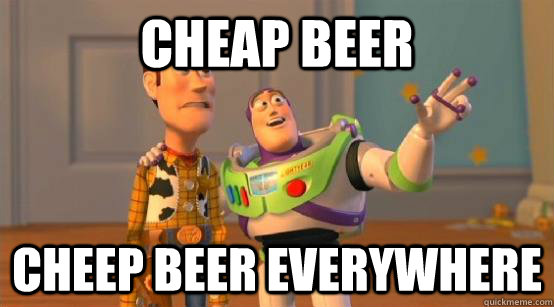 Cheap Beer Cheep Beer Everywhere - Cheap Beer Cheep Beer Everywhere  Buzz Glitter