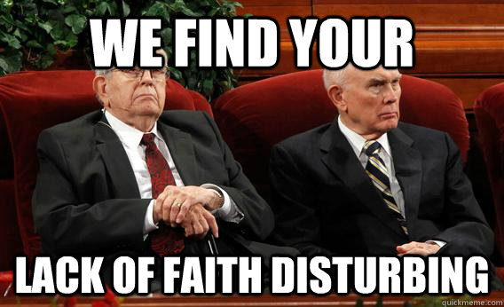 we find your lack of faith disturbing - we find your lack of faith disturbing  Misc