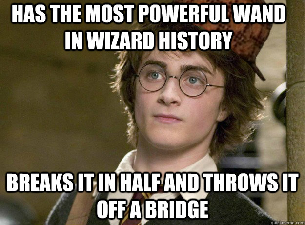 Has the most powerful wand in wizard history breaks it in for The most powerful wand in the world