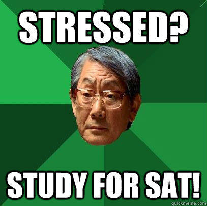 stressed? study for sat! - stressed? study for sat!  High Expectations Asian Father