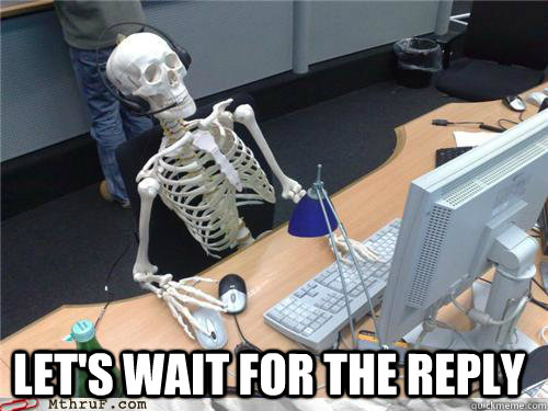 Image result for waiting reply