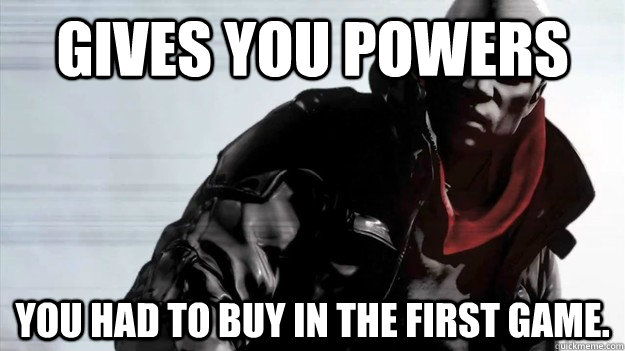 Gives you powers You had to buy in the first game. - Gives you powers You had to buy in the first game.  Good Guy Prototype 2