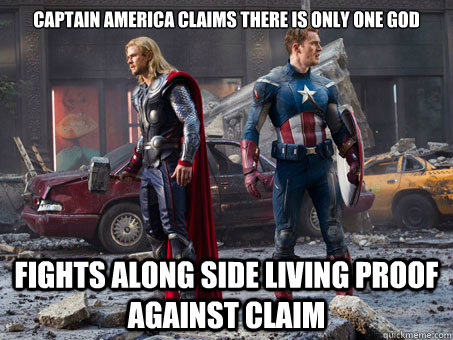 captain america claims there is only one god fights along side living proof against claim - captain america claims there is only one god fights along side living proof against claim  Misc