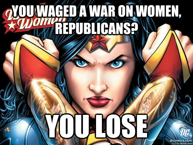 You waged a war on women, Republicans? You lose  Wonder Woman