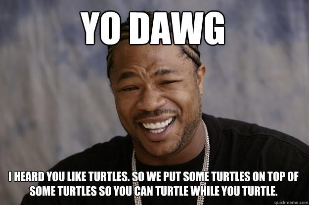 i Like Turtles Meme i Heard You Like Turtles