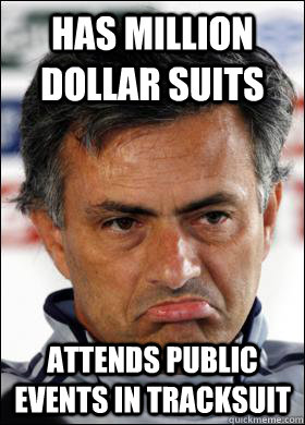 has million dollar suits attends public events in tracksuit