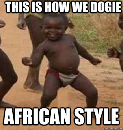 This is how we dogie african style  dancing african baby