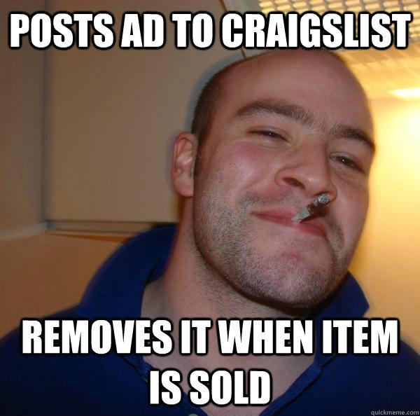 posts ad to craigslist removes it when item is sold - posts ad to craigslist removes it when item is sold  Misc