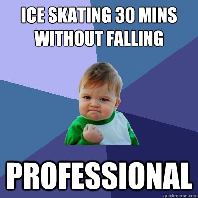 ice skating 30 mins without falling professional - ice skating 30 mins without falling professional  Success Kid
