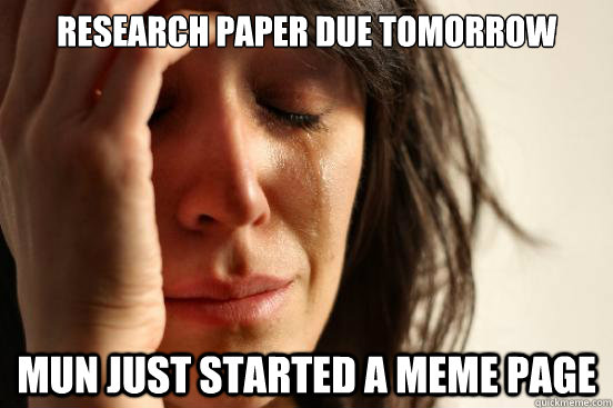 page research paper due tomorrow