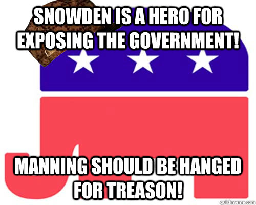 snowden is a hero for exposing the government! manning should be hanged for treason!