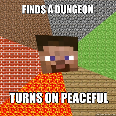 FINDS A DUNGEON TURNS ON PEACEFUL