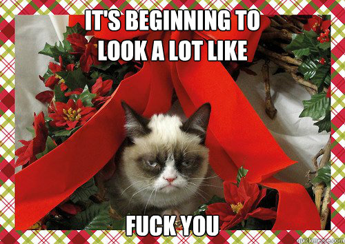 it's beginning to  look a lot like fuck you - it's beginning to  look a lot like fuck you  A Grumpy Cat Christmas