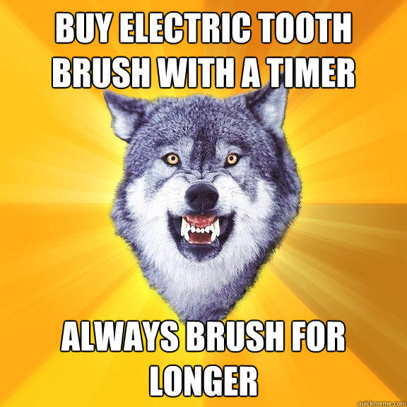 Buy electric tooth brush with a timer Always brush for longer - Buy electric tooth brush with a timer Always brush for longer  Courage Wolf