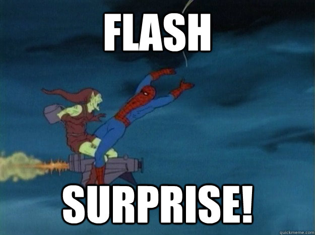 flash Surprise! - flash Surprise!  60s Spiderman meme