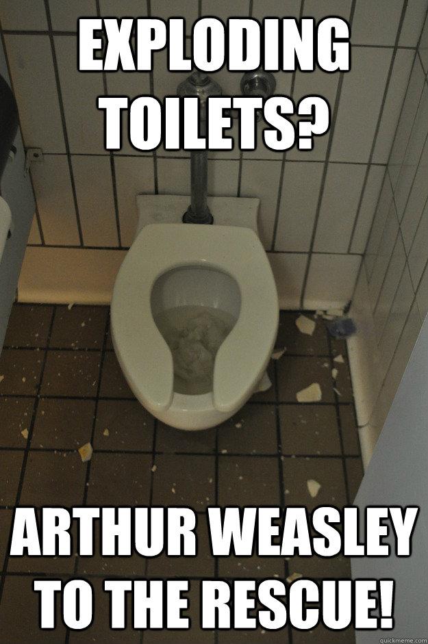 Exploding Toilet Memes