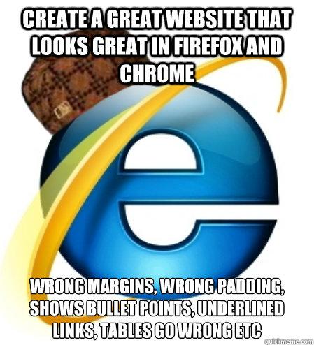 Scumbag internet explorer memes quickmeme for Internet plante