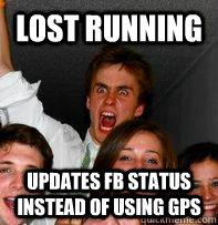 lost running updates fb status instead of using gps
