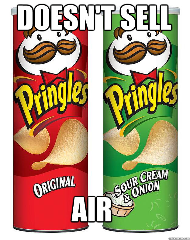 DOESN'T SELL  AIR - DOESN'T SELL  AIR  GG pringles
