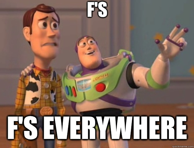 F's F's everywhere  - F's F's everywhere   Toy Story