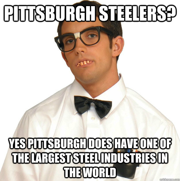 pittsburgh Steelers? yes Pittsburgh does have one of the largest steel industries in the world