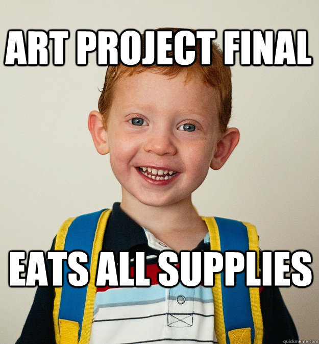 Art project final eats all supplies