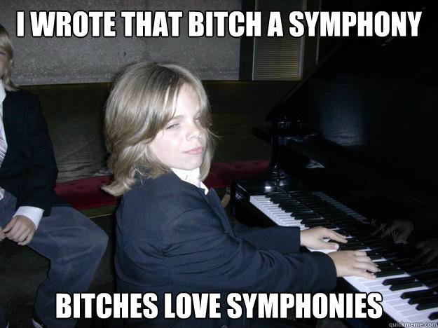 I wrote that bitch a symphony Bitches love symphonies - I wrote that bitch a symphony Bitches love symphonies  Misc