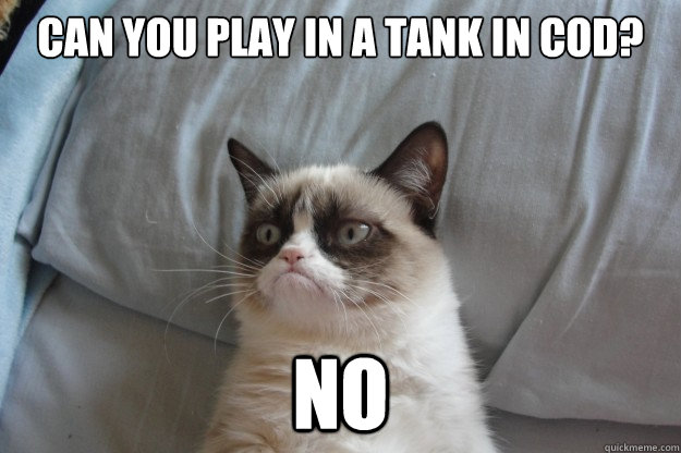Can you play in a tank in COD? NO - Can you play in a tank in COD? NO  GrumpyCatOL