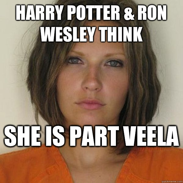 Harry Potter & Ron Wesley think She is part veela  - Harry Potter & Ron Wesley think She is part veela   Attractive Convict