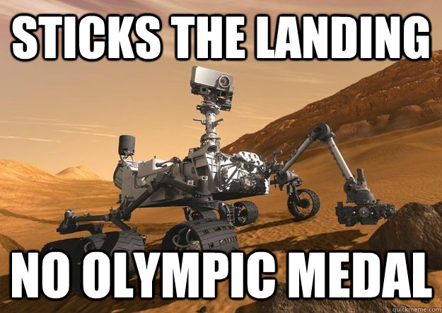 Sticks the landing No olympic medal