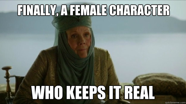 Finally, a female character who Keeps it real - Finally, a female character who Keeps it real  Misc