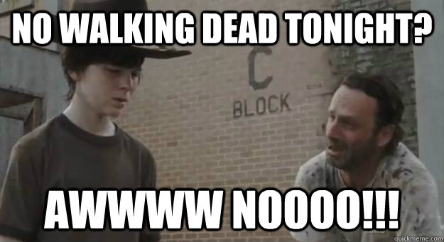 No Walking Dead tonight? awwww NOOOO!!! - No Walking Dead tonight? awwww NOOOO!!!  Crying Rick Grimes