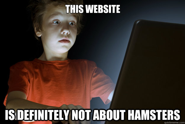 This website is definitely not about hamsters - This website is definitely not about hamsters  scared first day on the internet kid