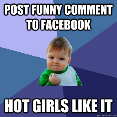 Funny Comments on Girls Photos on Facebook Post Funny Comment to Facebook