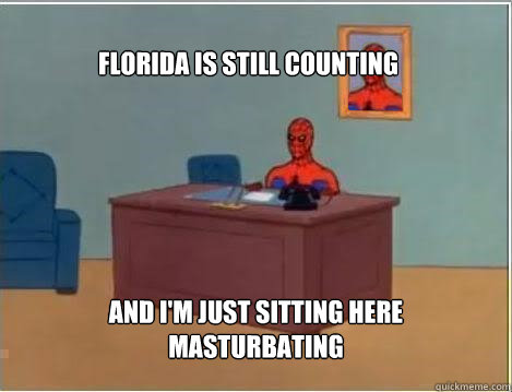 Florida is still counting And I'm just sitting here masturbating - Florida is still counting And I'm just sitting here masturbating  Spiderman