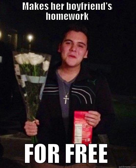 MAKES HER BOYFRIEND'S HOMEWORK FOR FREE Friendzone Johnny
