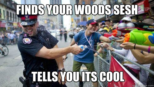 FINDS YOUR WOODS SESH TELLS YOU ITS COOL - FINDS YOUR WOODS SESH TELLS YOU ITS COOL  Good Guy Cop
