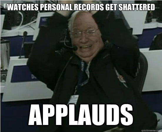 Watches personal records get shattered Applauds - Watches personal records get shattered Applauds  Good Guy Joe Kittinger