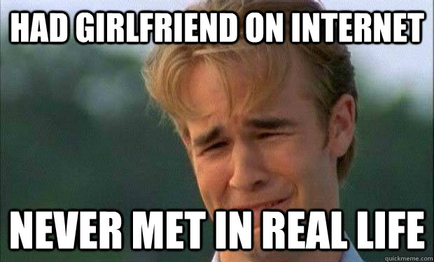 had girlfriend on internet never met in real life   james vanderbeek crying