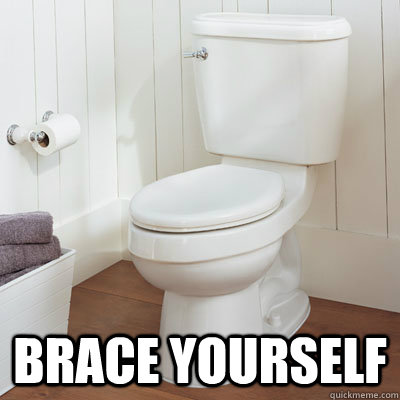 Brace yourself -  Brace yourself  Scumbag Broken Toilet