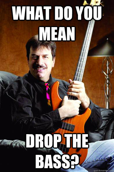 what do you mean drop the bass? - what do you mean drop the bass?  Typical Bass Player