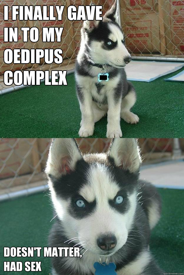I finally gave  in to my   Oedipus  complex Doesn't matter, had sex - I finally gave  in to my   Oedipus  complex Doesn't matter, had sex  Insanity puppy