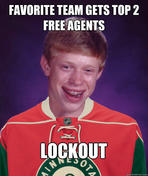 Favorite team gets top 2 free agents Lockout - Favorite team gets top 2 free agents Lockout  Misc