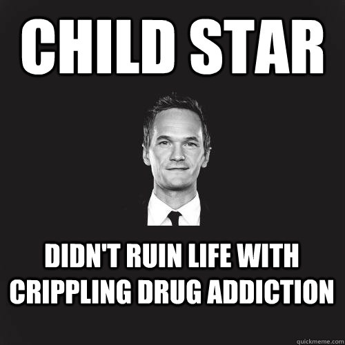 Child star Didn't ruin life with crippling drug addiction