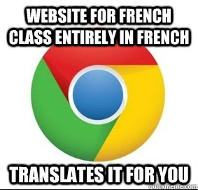 Website for french class entirely in french translates it for you - Website for french class entirely in french translates it for you  Misc
